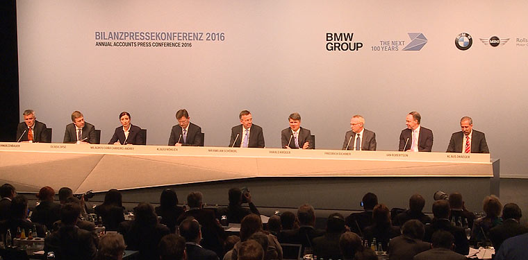 BMW Group Bilanzpressekonferenz 2016